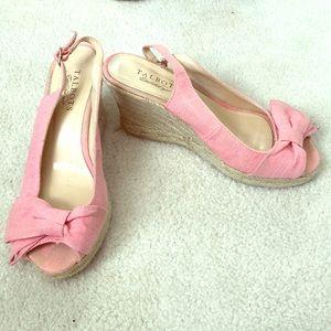 Talbots Light Pink Wedges Size 8